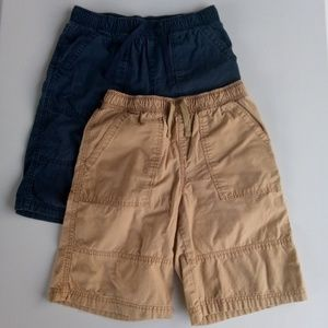 🆕 Boy's Circo Blue & Tan Shorts Lot Large 12/14